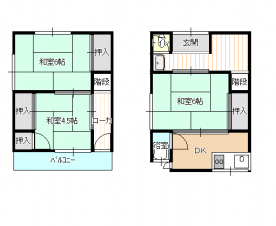 山田3戸1貸家 画像1